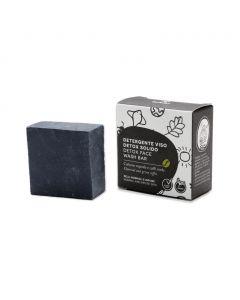 Detox Face Wash Bar Charcoal & Green Coffee (Tukiki) 70gr