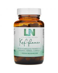 Kef-Flamex Kefir-Kombucha+Reishi - Bio (Living Nutrition) 60caps