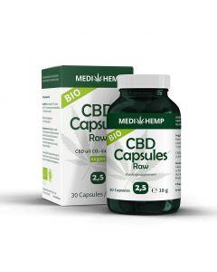 CBD Capsules Raw - Bio 2,5% 30st