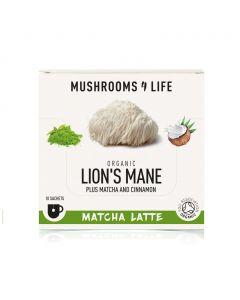 Lion's Mane - Matcha Paddenstoelen Latte Sachet 1000mg Bio (Mushrooms4Life) 6gr