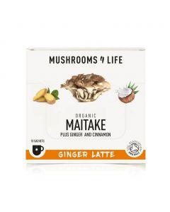 Maitake - Gember Paddenstoelen Latte Sachet 1000mg Bio (Mushrooms4Life) 6gr
