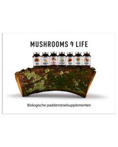 Mushrooms4Life Consumenten Folder Capsules/Poeders (NL) 10 stuks