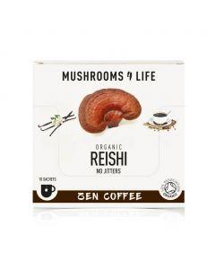 Reishi Zen Paddenstoelen Koffie Sachet 1000mg Bio (Mushrooms4Life) 3gr