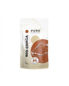Chaga Paddenstoelen Extract Capsules Bio (Pure Mushrooms) 60caps